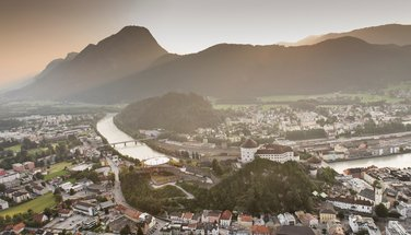 The city of Kufstein with the fortress on the Inn | © Lolin/TVB Kufsteinerland